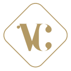 Logo Vertical cuir doré