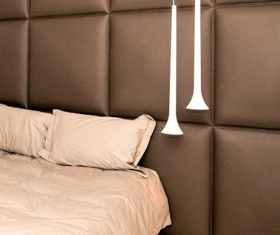 Déco - Tête de lit : Revêtement simili-cuir